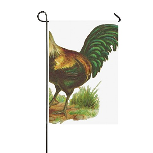 Home Decorative Outdoor Double Sided Rooster Vintage Drawing