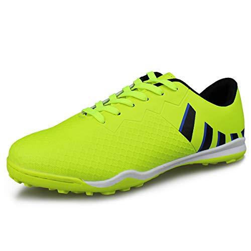 Hawkwell Men's Athletic Lightweight Running Outdoor/Indoor Comfortable Soccer Shoes,Green 12 M US