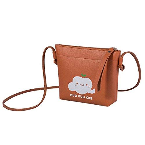 Women Crossbody Bags, Muium Ladies Cloud Tassels Shoulder Bag Fashion Zipper Handbag Messenger Bags Brown