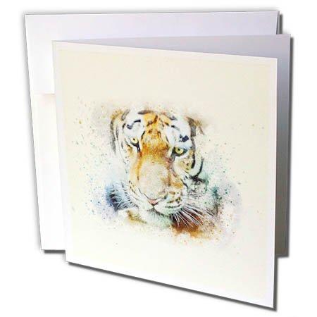 Uta Naumann水彩イラスト動物 – アフリカ野生動物ライオンキングWatercolor Portrait Illustration – グリーティングカード 6 x 6