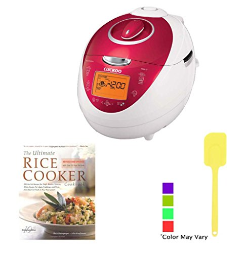 Cuckoo CRP-N0681F 6 Cups Electric Rice Cooker + Heat Resistant Non-Stick 6-piece Nylon Kitchen Tool Set + Ultimate Rice Cooker Cookbook + $15 aSavings Gift Card