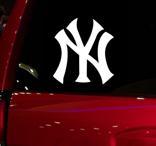 WALL BANNERS LLC | YANKEES | Vinyl Sticker Decal for Vehicle Cars Trucks Vans SUV Window Windshield Folder Walls (YANKEES) (Suv Truck Vinyl)