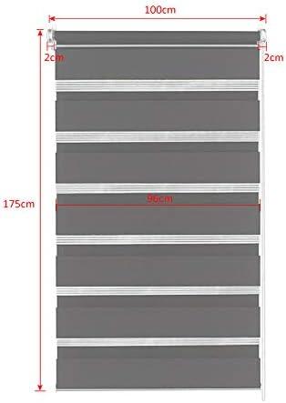 UISEBRT Double Store Enrouleur Jour et Nuit sans per/çage 100 * 175cm pour fen/êtres translucides Blanc