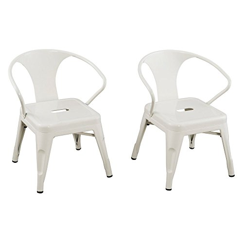 Reservation Seating Kids Steel Chair, White, One Size