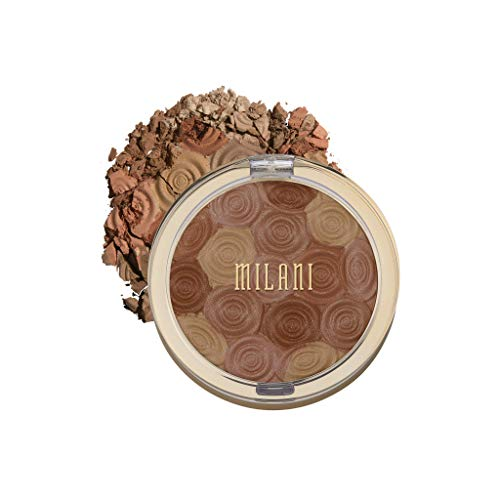 Milani Illuminating Face Powder – Hermosa Rose (0.35 Ounce) Cruelty-Free Highlighter, Blush & Bronzer in One Compact to…