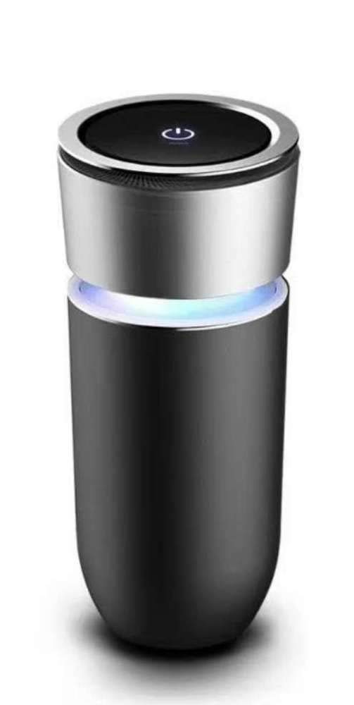 Six Star Commerce Effective Car Air Purifier and Ionizer- Cup Shaped to Fit in Cup Holder: HEPA Filter Filters Out Smoke Dust and Pollution (Black) by Six Star Commerce