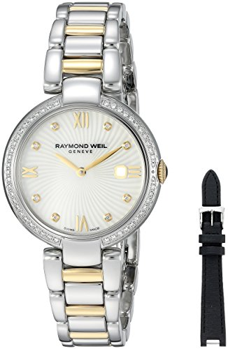 Raymond Weil Women's 'Shine' Quartz Stainless Steel Dress Watch, Color:Two Tone (Model: 1600-SPS-00995)