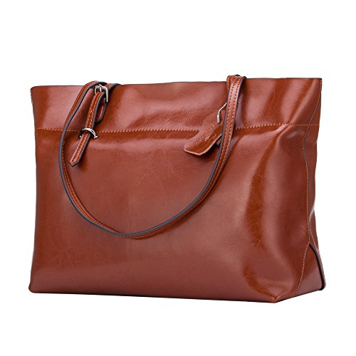 Genuine Bag Lady Shoulder leather Handbag Orange Cowhide R8wdqfnZO