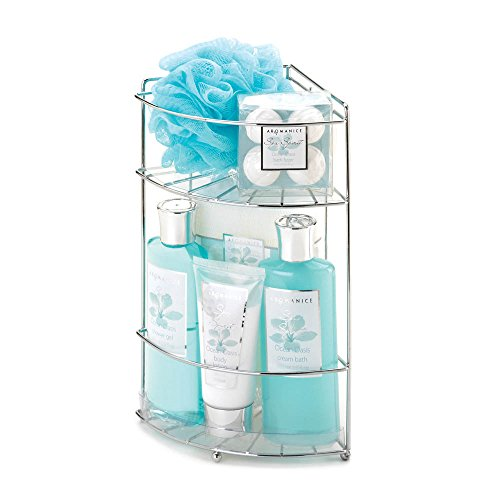 Spa Gift Baskets For Women, Gift Baskets For Her, Ocean Oasis Bath Caddy Spa ()