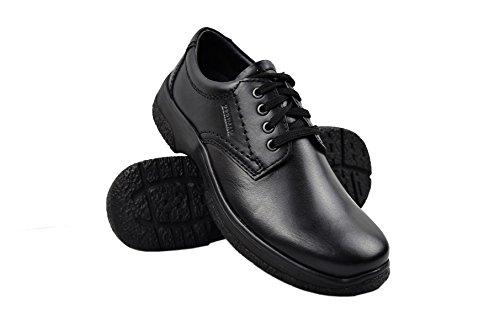 hombre casuales de Negro Zapatos cuero vestir trabajo Calzado de para Zapatos hombre hombre Zapatos de para de Zerimar T8qPcBq