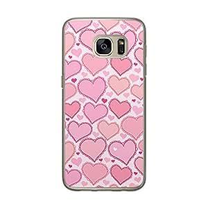 Loud Universe Samsung Galaxy S7 Love Valentine Files Valentine 175 Printed Transparent Edge Case - White/Pink