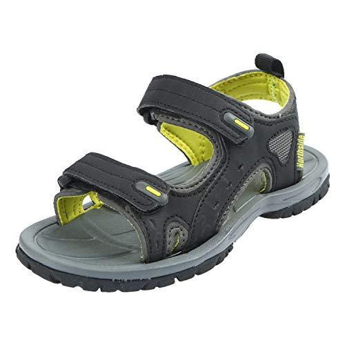 Northside Boys' Riverside II Sport Sandal, Black/Yellow, Size 4 M US Big - Boys Yellow Sandals