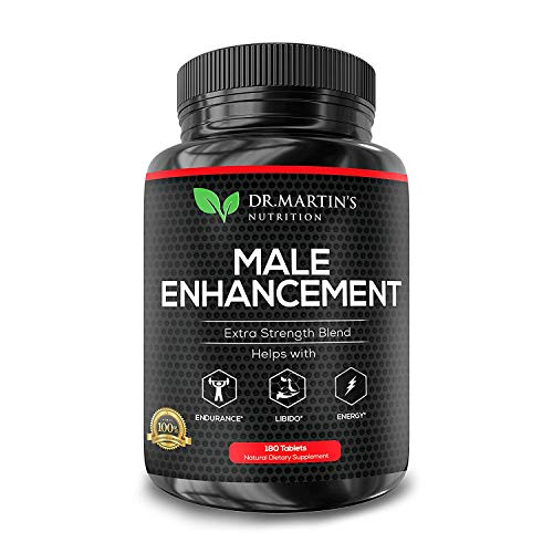 Male Enhancement Supplement | 180 Capsules | 3 Month Supply | Boosts Energy, Testosterone, Endurance & Enhances Muscle Growth | with Gingseng, Maca, Tongkat Ali | Healthy Weight Loss and Fat Burning