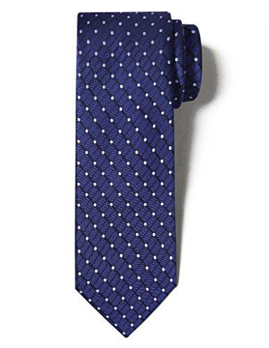 ORIGIN TIES Mens Fashion 100% Silk Handmade Painted Spot Easy-matching Pin dots & Plaid Tie