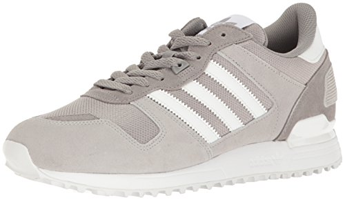 adidas Originals Men's ZX 700 Running Shoe, Solid White/Medium Grey Heather, 8.5 M US