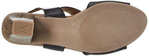 Caprice Damen 28308 Offene Sandalen mit Keilabsatz Schwarz (BLACK NAPPA)