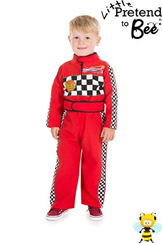 [Childrens Boys Girls Red F1 Racing Car Driver Fancy Dress Costume 2 - 3 Years by Pretend to Bee] (Childs Racing Driver Costume)