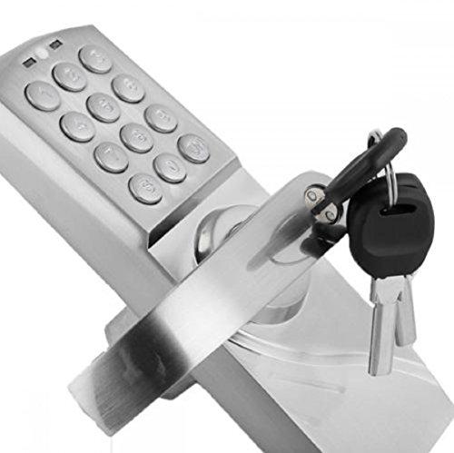 Left Handle Keyless Electronic Code Keyless Keypad Security Entry Lock
