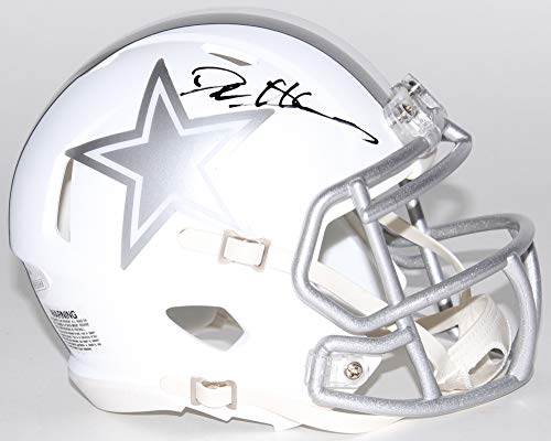 Deion Sanders Dallas Cowboys Signed Autograph ICE Speed Mini Helmet JSA Witnessed Certified