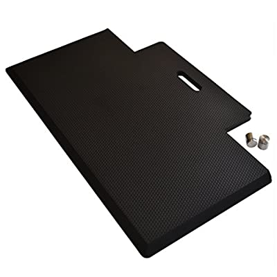 """Quality Clever Standing Desk Mat, 29x18"""", Anti-Fatigue Memory Foam for Maximum Comfort and Relief from Pain, Ideal Size and Shape, Easy to Move and Store with Handy Hanger and Handle, Commercial Grade"""