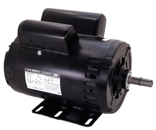 A.O. Smith CP1502L 5 HP, 3600 RPM, 230 Volts, 1 Service Factor, Reversible Rotation, 7/8-Inch by 2-1/4-Inch Keyed Shaft Compressor Motor ()