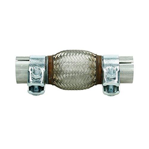 Flexibles Rohr mit 2 Schellen Interlock Flexst/ück Wellrohr Hosenrohr Auspuff Abgasanlage Montage ohne Schwei/ßen aus Edelstahl 55 x 250 mm ECD Germany Universal Flexrohr