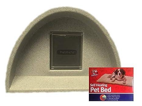Cosy Jaulas exteriores Cat Refugio/Cat Caseta con solapa + - Compresa de calor Marrón £ 59.95: Amazon.es: Productos para mascotas