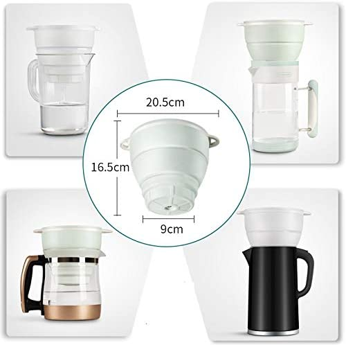 Sink Filter Purifier miniwell Collapsible Camping Water Filter Faucet Mount Water Filtration System L901-B1- Folded Pitcher with 1 Replacement Residual Chlorine for Drinking Water