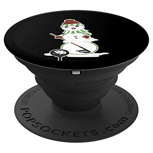 (Golf Ball Snowman Funny Christmas Gift PopSockets Grip and Stand for Phones and)