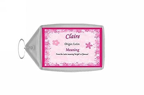 Claire personalizzata nome significato PORTACHIAVI