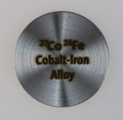 Cobalt Iron (CoFe) Alloy Disc for Collection or Experiments