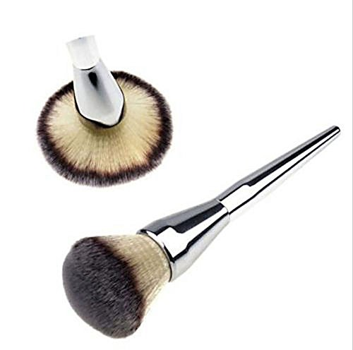 1pcs Large Blush Hot Face Makeup Silver Cosmetic Brush Handle - Alicia Video Silver
