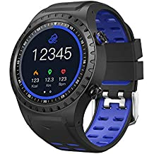 SMA-M1 GPS Sport Smart Watch Activity Tracker Fitness Watches for Men Heart Rate Monitor Smart Watch Sleep Monitoring Smartwatch for Android and iOS (Blue)