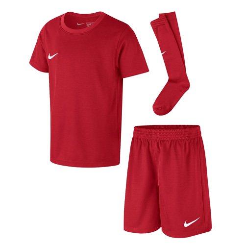 Nike Park Little Kids Jersey Soccer Kit Set (University Red, M)