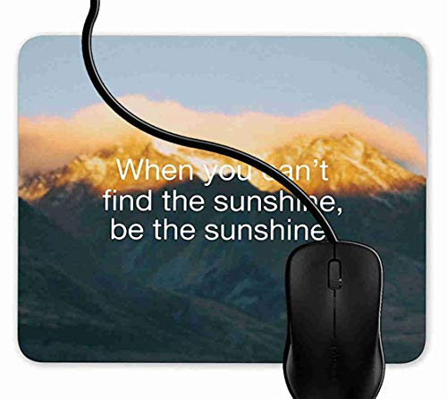 (Mouse Pad Gaming Sunshine Quote,9.25X7.75 inch Non-Slip Rubber Mousepad Mat for Desktops, Computer, PC and Laptops 1F2355)