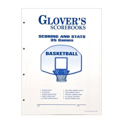 Glover's Scorebooks Basketball Scoring and Stats Sheets (35 Games) ()