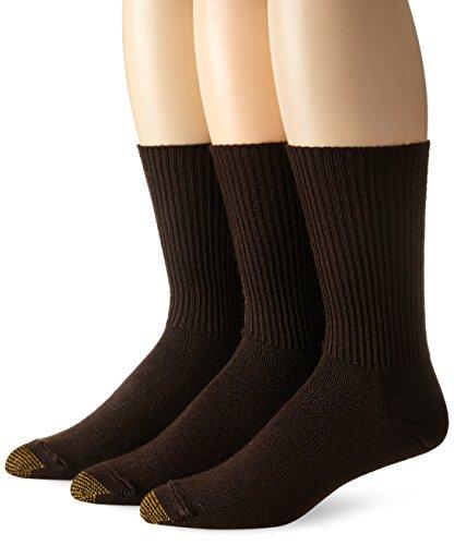 Gold Toe Men's Fluffies Casual Sock, Brown, 3-Pack , Size 6 - (Brown Toe Socks)