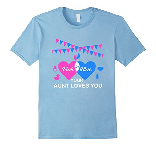 Mens Pink Blue Your Aunt Loves You Soon To Be Aunt Gifts ...