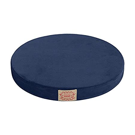 Baibu Chair Pad,Memory Foam Seat Cushion Round Velvet Fabric Floor Cushion  For Chair Navy