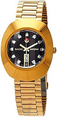 f9ac27507e433 Rado Diastar Men's Black Dial Metal Band Watch - R12413613: Amazon.com