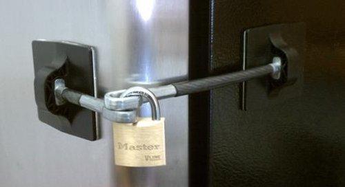 Computer Security Products Refrigerator Door Lock With Padlock, Black by Computer Security Products