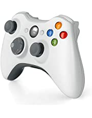 Wireless Controller for Xbox 360, 2.4GHZ Gamepad Joystick Controller Remote for Xbox 360 Console & PC Windows 7,8,10 (White)