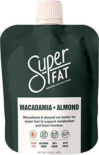 Nut Butter Fat Bomb: Macadamia & Almond Nut Butter for Increased Energy, Metabolism and Brain Function. Paleo & Keto, Vegan, Gluten Free, Low Carb On-The-Go Snack (Box of 10x1.5 oz) (Macadamia Almond)