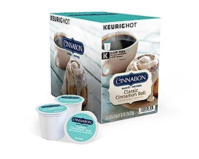 Cinnabon Classic Cinnamon Roll Coffee, Single Serve K-Cup Pod, Flavored Coffee, 96 Count