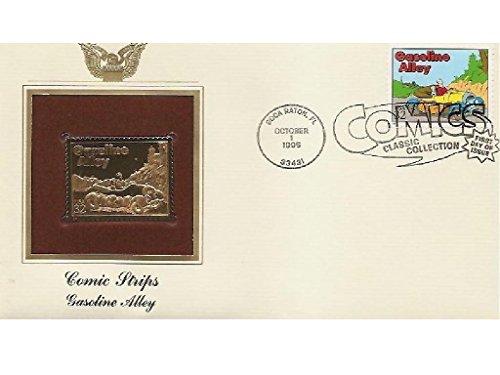 1995 Comic Strip Gasoline Alley 22K Gold Golden Cover FDC replica Stamp ()