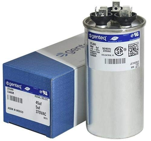 Genteq c3455r GE Round Capacitor 45 5 uf MFD, 97F9895, Z97F995, 97F9895BZ3, 27L880, 370V Air Conditioning Run Capacitor