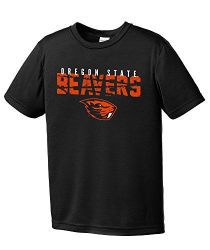 NCAA Oregon State Beavers Youth Boys Destroyed Short sleeve Polyester Competitor T-Shirt, Youth (Oregon State Basketball)