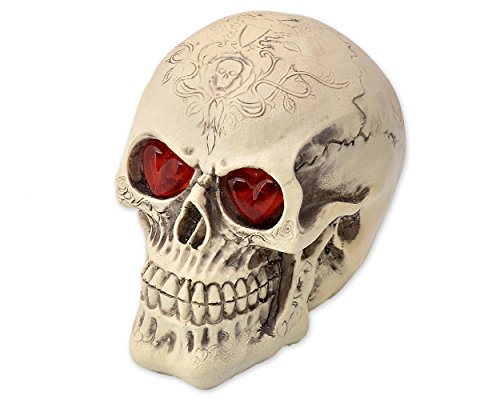 Ace Select LED Skull Light for Halloween Bar Table Decorations-Cool Birthday Surprise-Decorative Night Light Skull Ornament with LED Light Up Eyes Desk Lamp for Gothic Party Decoration -