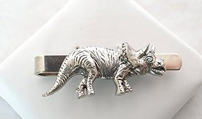 Pinzas de corbata del dinosaurio (Triceratops) con caja de regalo ...