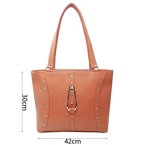 TYPIFY® Leatherette PU Handbag for Women and Girls College Office Bag, Stylish latest Designer Spacious Shoulder Bag Purse. Gift for Her